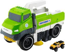 minecraft semi truck matchbox sweep and keep diecast truck toys