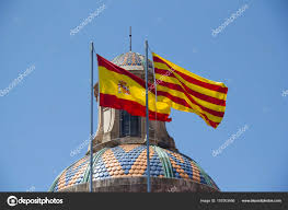 Barcelona Spain Flag Spanish And Catalan Flag U2014 Stock Photo Jankranendonk 157003456