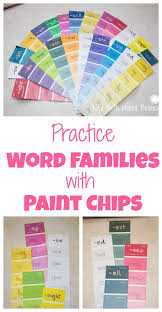 Paint Chips by Paint Chip Word Families Life With Moore Babies