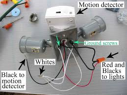 add motion sensor to existing light diy motion sensing outdoor security lighting add detector existing