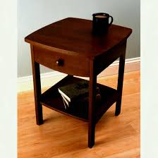 Curved Nightstand End Table Sleek Walmart Tier End Table Middle And Bottom Shelf For Home