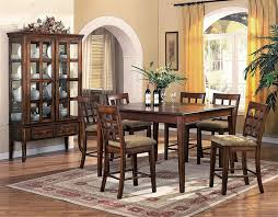 Hawthorne  Piece Counter Height Dining Set In Brown Cherry Finish - 7 piece dining room set counter height