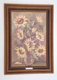 retired home interior pictures home interiors decor embossed picture sunflowers by j ritter