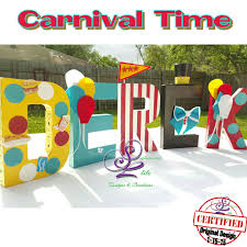 carnival theme letters decorated name letters pinterest
