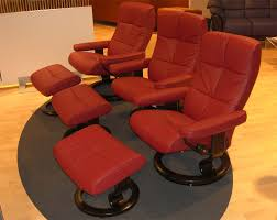 Red Leather Reclining Chair Stressless Oxford Recliner Chair Ergonomic Lounger And Ottoman By