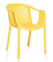 Plastic Furniture Shopping Online India Varmora Designer Chair Ola Vertical Yellow Buy Varmora