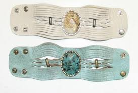 braided leather cuff bracelet images Turquoise or creme braided leather cuff bracelet with gemstone png
