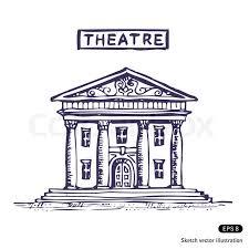 theatre building stock vector colourbox