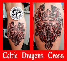 celtic dragons cross tattoo designs tattooshunt com