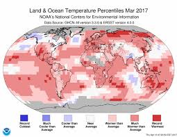 World Temperature Map by Assessing The Global Climate In March 2017 National Centers For