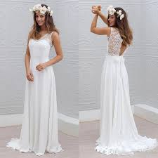cheap bridal gowns discount bohemian lace chiffon bridal gowns