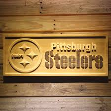steelers wooden sign