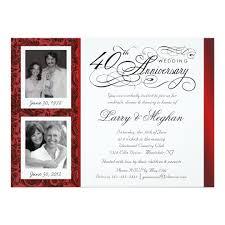 40th anniversary invitations fancy 40th anniversary invitations then now zazzle