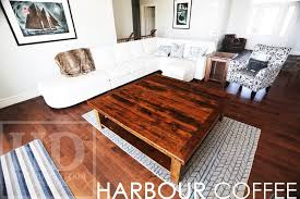 60 x 60 coffee table large reclaimed wood coffee table in bayfield ontario blog