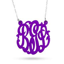Necklace Monogram Acrylic Monogram Necklace