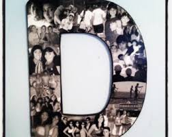 huge coach gift senior night photo collage letter collage