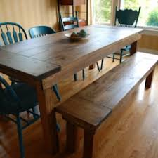 farm tables with benches german jello salad rustic dining table i built from free plans a