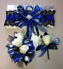 royal blue boutonniere royal blue garter corsage boutonniere set prom homecoming