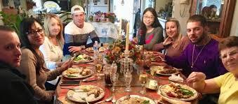 an international student s thanksgiving carey the torch