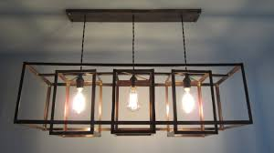 Chandelier Dining Room Diy Custom Hanging Antique Recangle Farmhouse Chandelier With