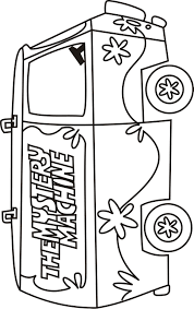 scooby doo mystery machine coloring pages scooby doo mystery