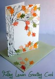 card invitation design ideas falling leaves greeting card for