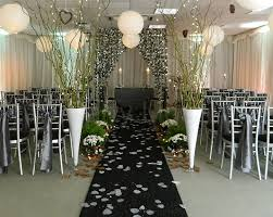 black aisle runner decoration ideas and props for hire party linen