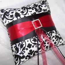 damask ribbon ring bearer pillow black and white damask ribbon
