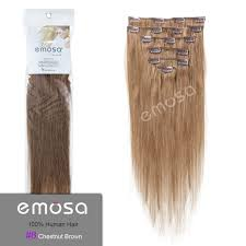 8 Inch Human Hair Extensions by Amazon Com Emosa Silky Straight 100 Human Hair Clip In