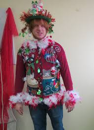 funny santa snow globe derby bowler hat tacky ugly christmas
