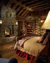 Bedroom Rustic - rustic master bedroom with exposed beam u0026 built in bookshelf