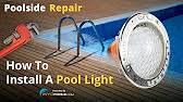 how to replace a pool light fixture youtube