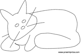 cat dot to dot drawings