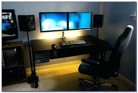 Desk For Dual Monitor Setup Best Desk For Multiple Monitors Best Computer Desk For Multiple