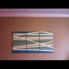 art w masking tape diy 6 canvases from michaels 4 colors of