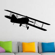 popular airplane wall murals buy cheap airplane wall murals lots removable flying bi plane wall sticker decal home decor plane wall sticker airplane living room