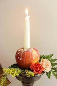 Apple Centerpiece Ideas by Best 25 Fall Candle Centerpieces Ideas On Pinterest Fall Table