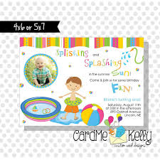Invitation Card For Pool Party Printable Boy Or Kiddie Baby Pool Party Summer Party