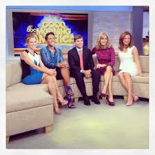 gfinger zees haircut lara spencer on amy robach lara spencer and ginger zee