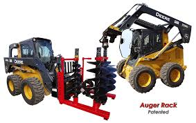 skid steer auger bits and drive motor storage shipping and