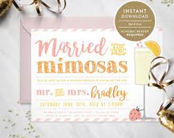 mimosa brunch invitations mimosa brunch invite etsy
