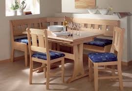 kitchen breakfast nook with storage bench corner dining table