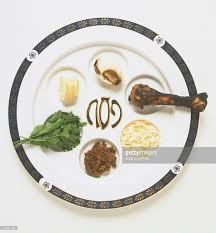 seder meal plate passover meal or seder plate displaying traditional bitter herb