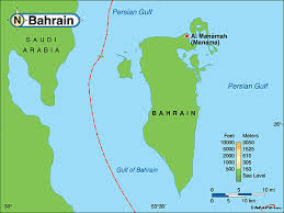 map of bahrain bahrain physical map by maps com from maps com s largest