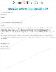 Format Of Letter Of Complaint by Complaint Letter To Hotel Management Png