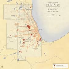 Map Metro Chicago by Metropolitan Chicago Land Use Industrial