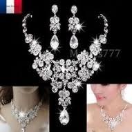 parure mariage pas cher bijoux de mariée ebay en robe de ceremonie cette combinaison