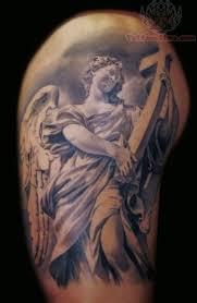 religious tattoos on leg