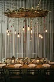 Hanging Edison Bulb Chandelier Creative Lighting Options For Your Wedding Day Bulbs Creative