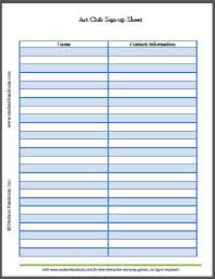 Event Sign Up Sheet Template Free Up Sheet Template Free